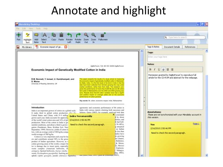 Annotate and highlight