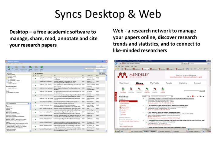 Syncs Desktop & Web