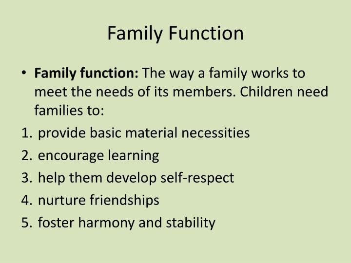 Family Function