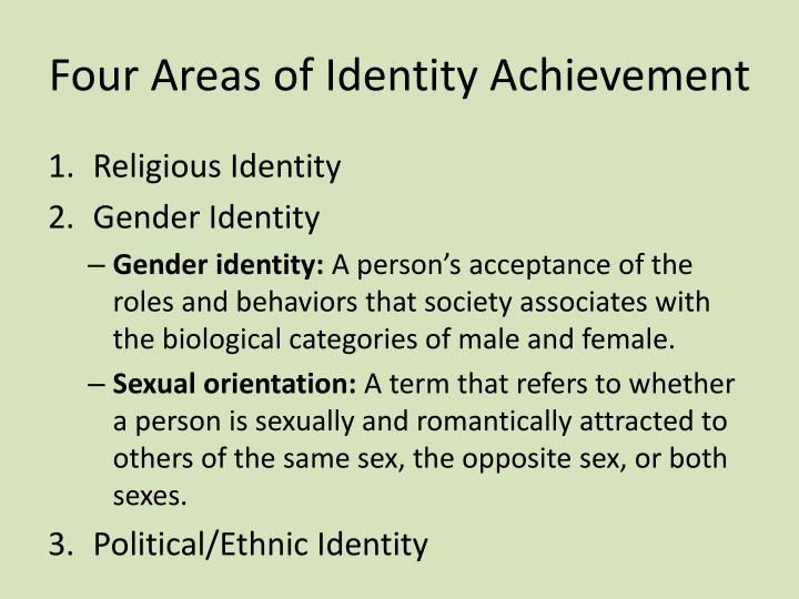 Four Areas of Identity Achievement