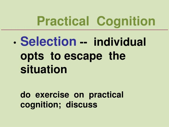 Practical  Cognition