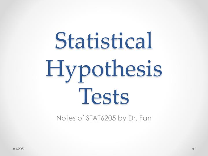 statistics and hypothesis testing powerpoint presentation The paper introduction to the hypothesis testing concerns the importance of the hypothesis testing therefore, the writer describes multiple aspects.