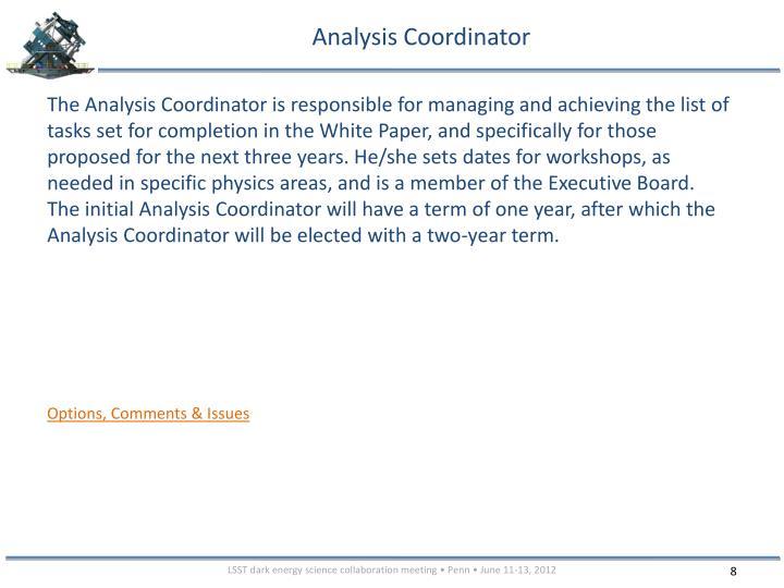Analysis Coordinator