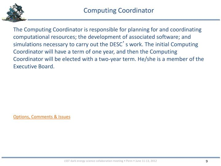 Computing Coordinator