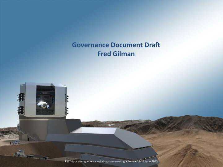 Governance document draft fred gilman