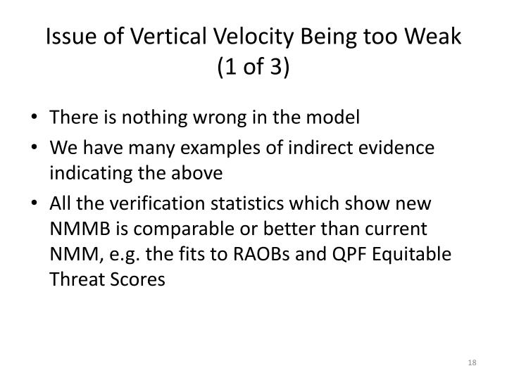 Issue of Vertical Velocity Being too Weak (1 of