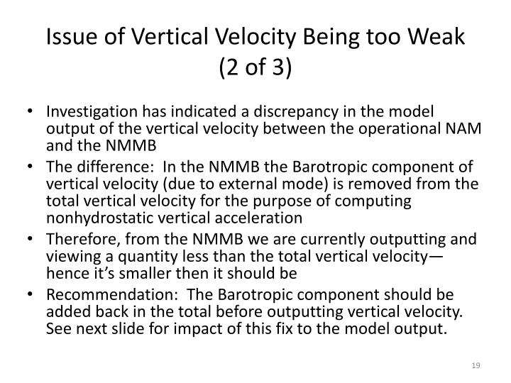 Issue of Vertical Velocity Being too Weak (2 of