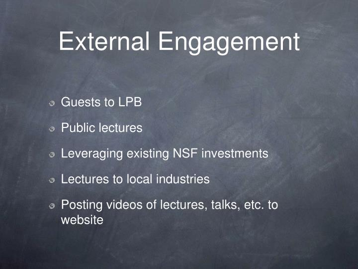 External Engagement