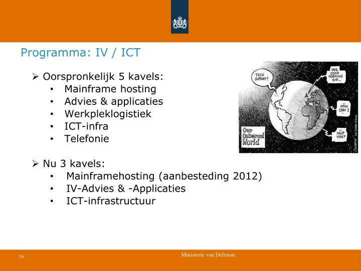 Programma: IV / ICT