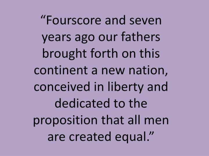 """Fourscore"