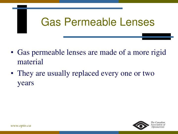 Gas Permeable Lenses