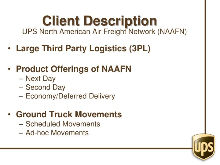 UPS North American Air Freight Network (NAAFN)