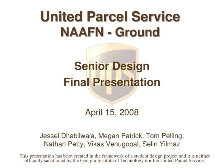 United parcel service naafn ground