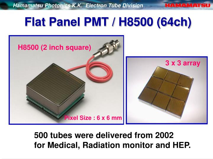 Flat Panel PMT / H8500 (64ch)