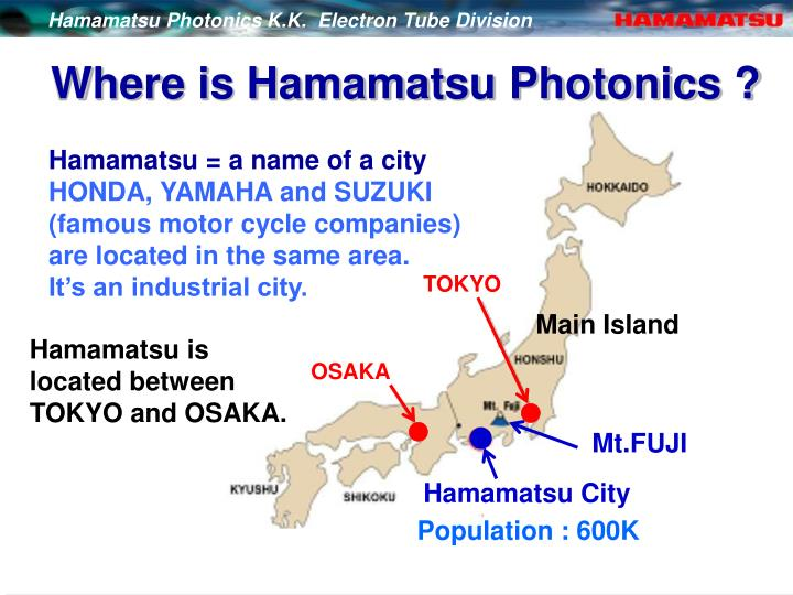 Where is hamamatsu photonics