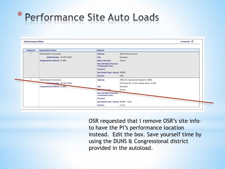 Performance Site Auto Loads