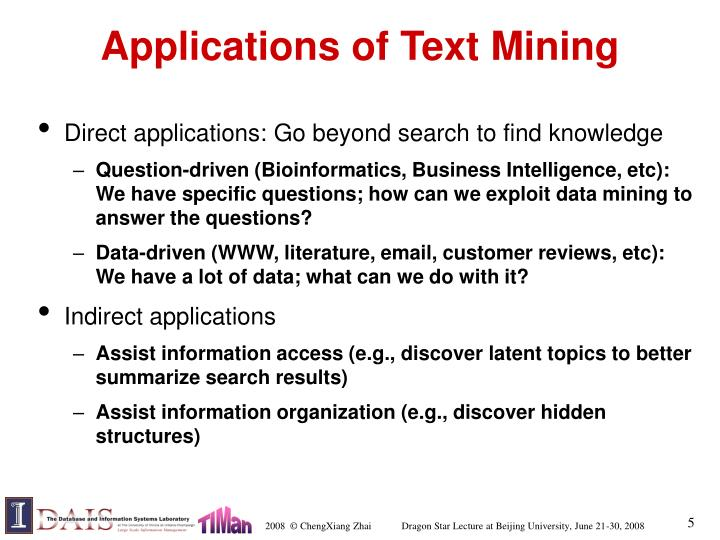 Applications of Text Mining