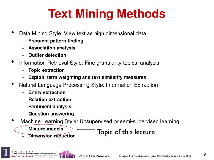Text Mining Methods