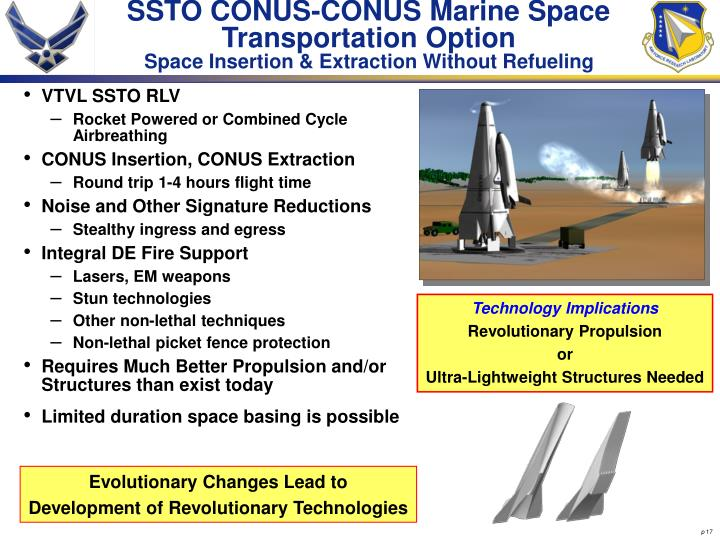 SSTO CONUS-CONUS Marine Space Transportation Option