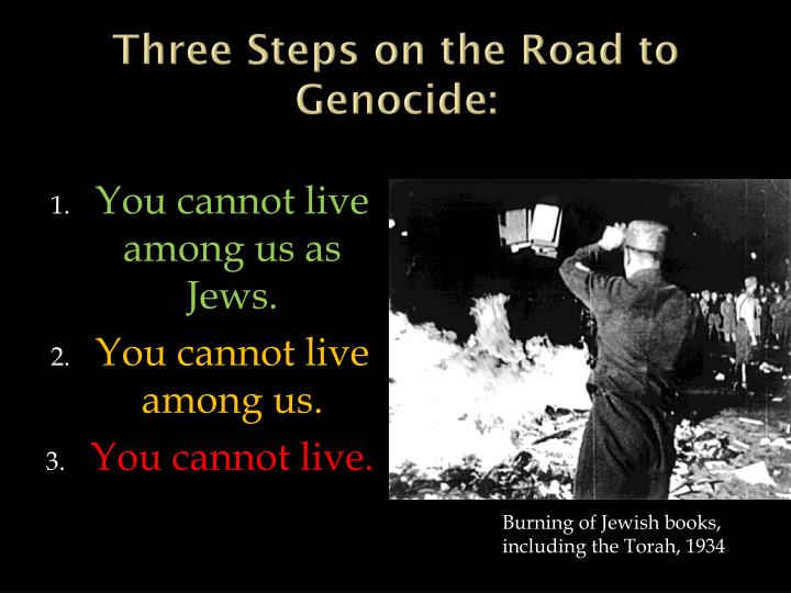 Three Steps on the Road to Genocide: