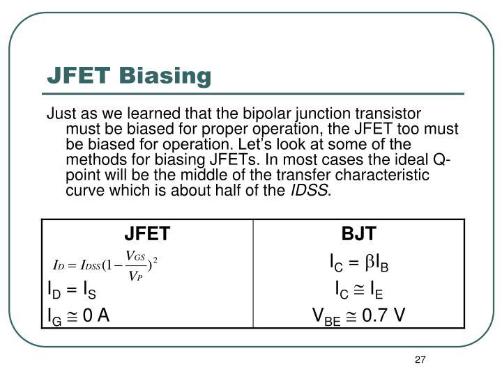 JFET Biasing