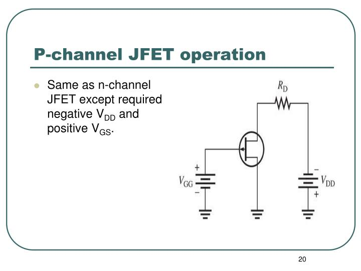 P-channel JFET operation