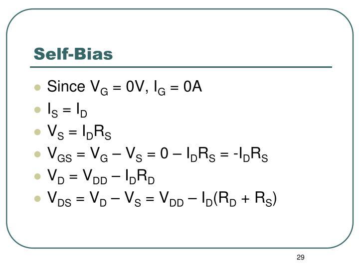 Self-Bias