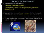 how were the jews treated