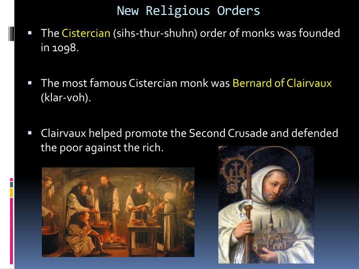 New Religious Orders