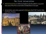 the first universities