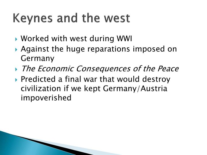 Keynes and the west