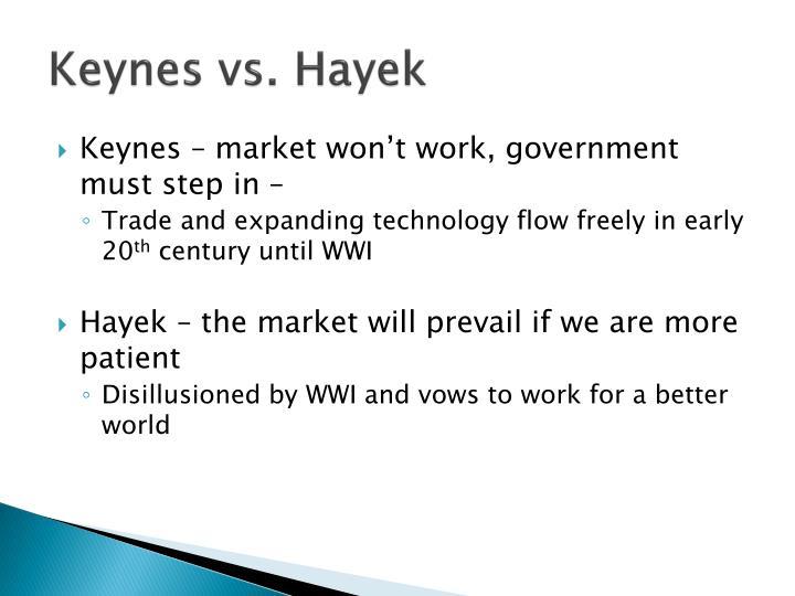 Keynes vs. Hayek