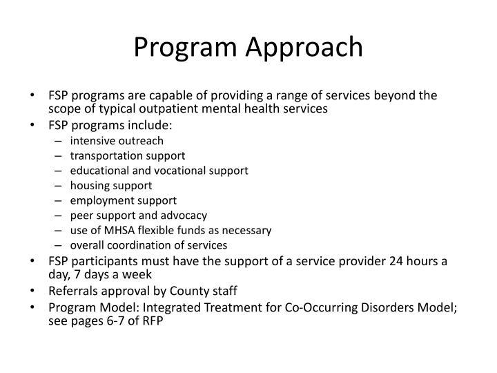 Program Approach