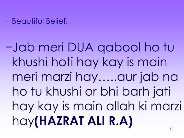 Beautiful Belief: