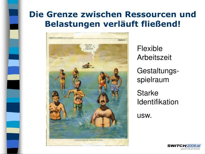 Die Grenze zwischen Ressourcen und Belastungen verläuft fließend!