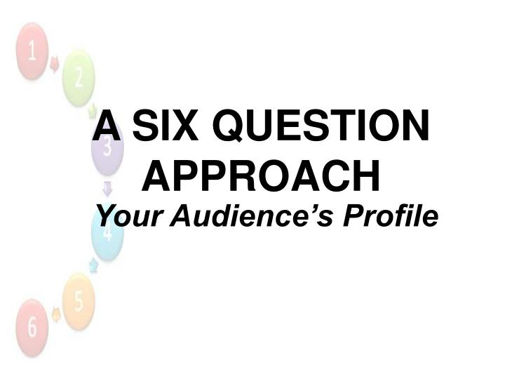 Your Audience's Profile
