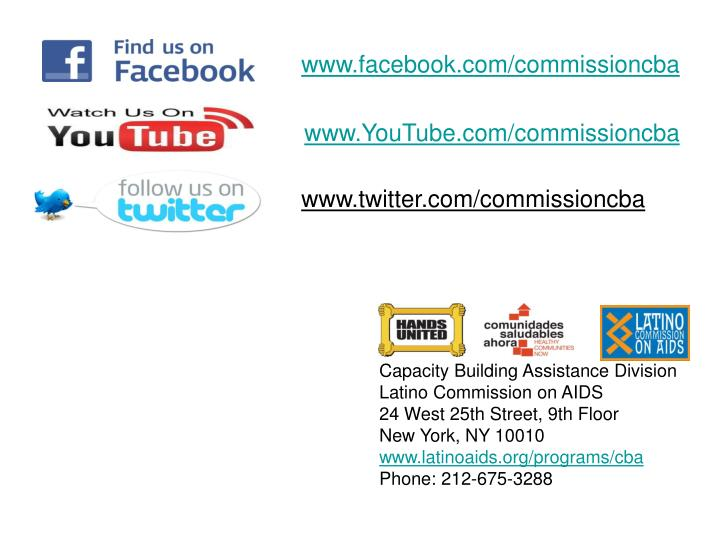 www.facebook.com/commissioncba