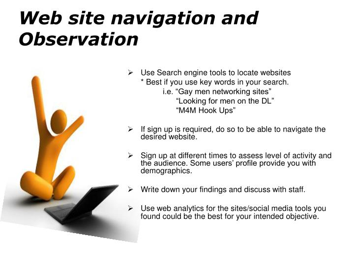 Web site navigation and Observation