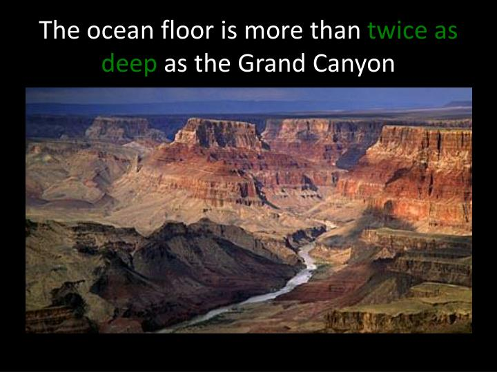 The ocean floor is more than