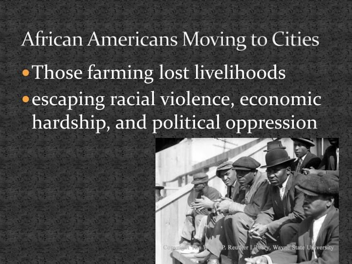 African Americans Moving to Cities