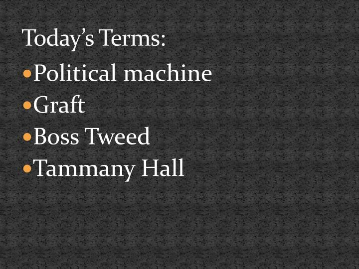 Today's Terms: