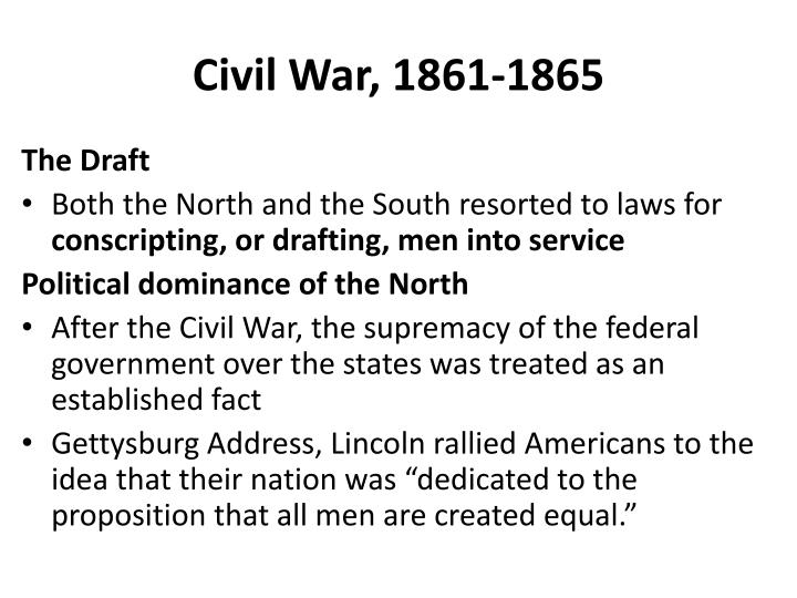 Civil War, 1861-1865