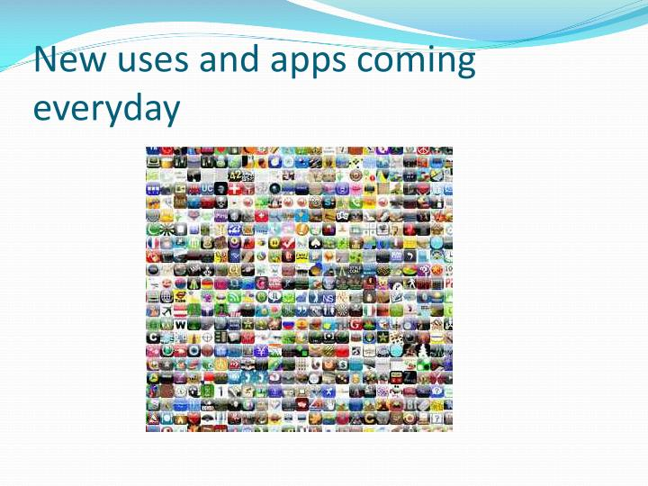 New uses and apps coming everyday