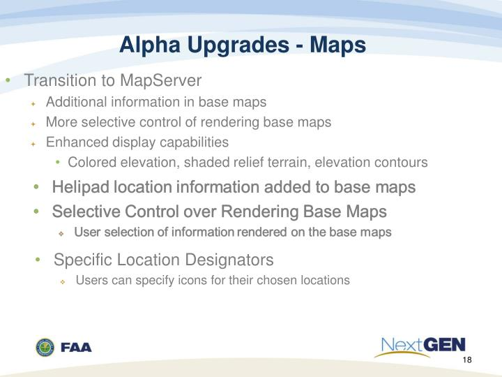 Alpha Upgrades - Maps