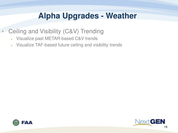 Alpha Upgrades - Weather