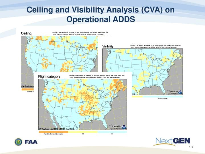 Ceiling and Visibility Analysis (CVA) on Operational ADDS