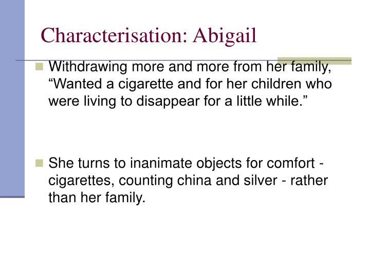 Characterisation: Abigail