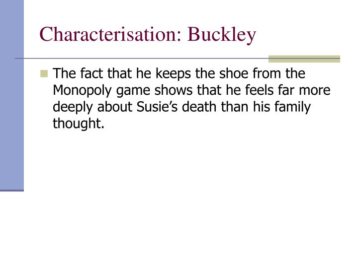Characterisation: Buckley
