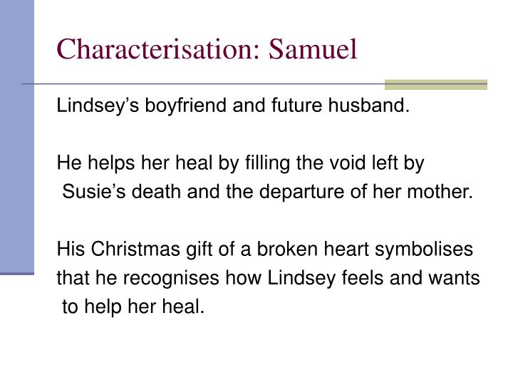 Characterisation: Samuel