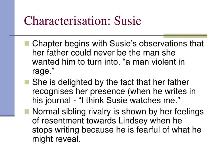 Characterisation: Susie